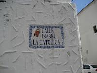 Isabela Católica street sign