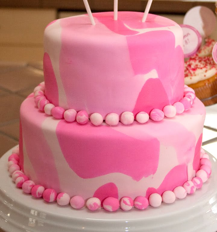 Piece of Cake: Pink Camouflage Birthday - Part two