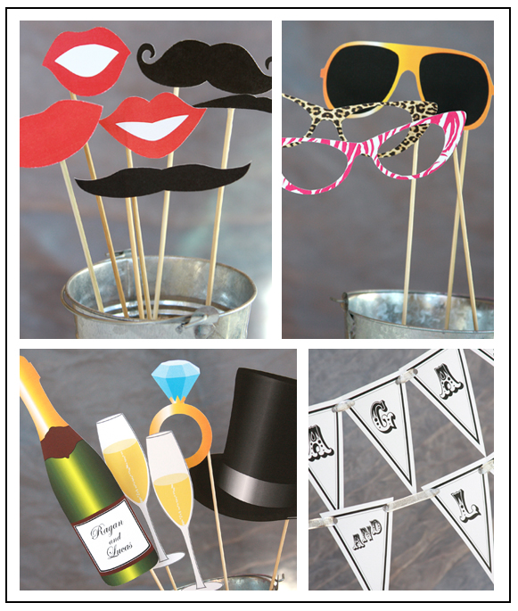 Wedding Printable Photo Booth Props