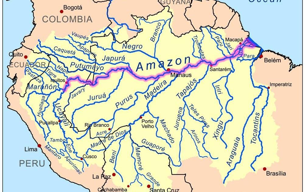 Ros de la Cuenca del Amazonas Ros Peruanos  Ciencia Geogrfica