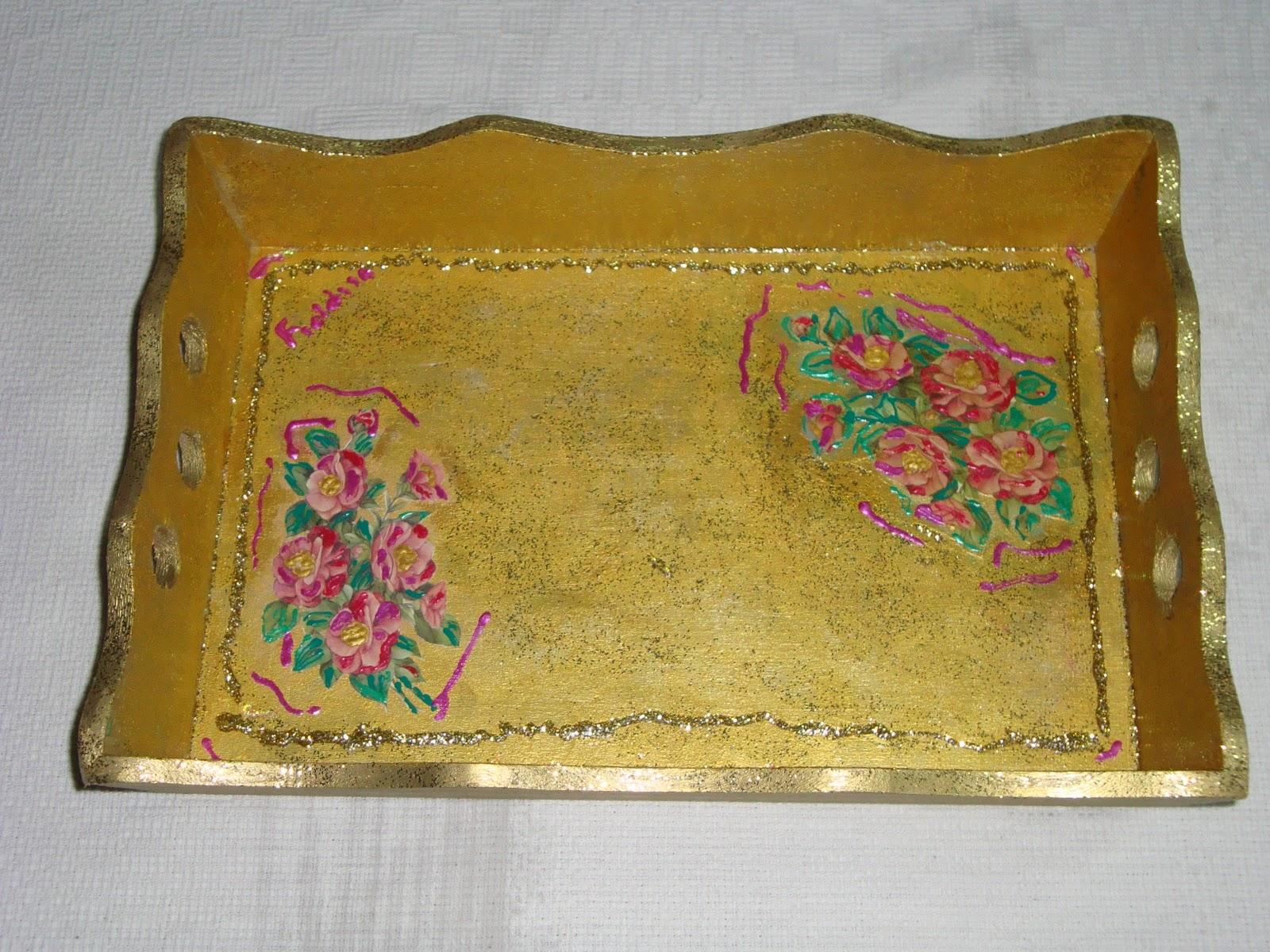 magicamenteart Fioldisa Luongo: Vassoi in legno decorati a mano