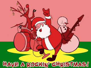 Rockin Santa Christmas Wallpaper