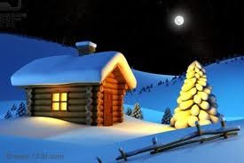 Christmas Snow House Desktop Wallpapers