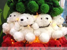 cute teddies for christmas wallpaper