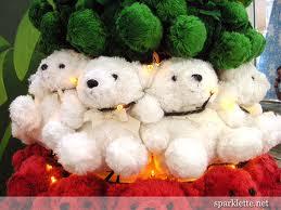 cute teddies for christmas wallpaper