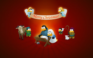 linux christmas desktop wallpaper
