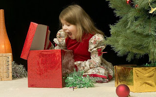 kids photo wallpaper on christmas
