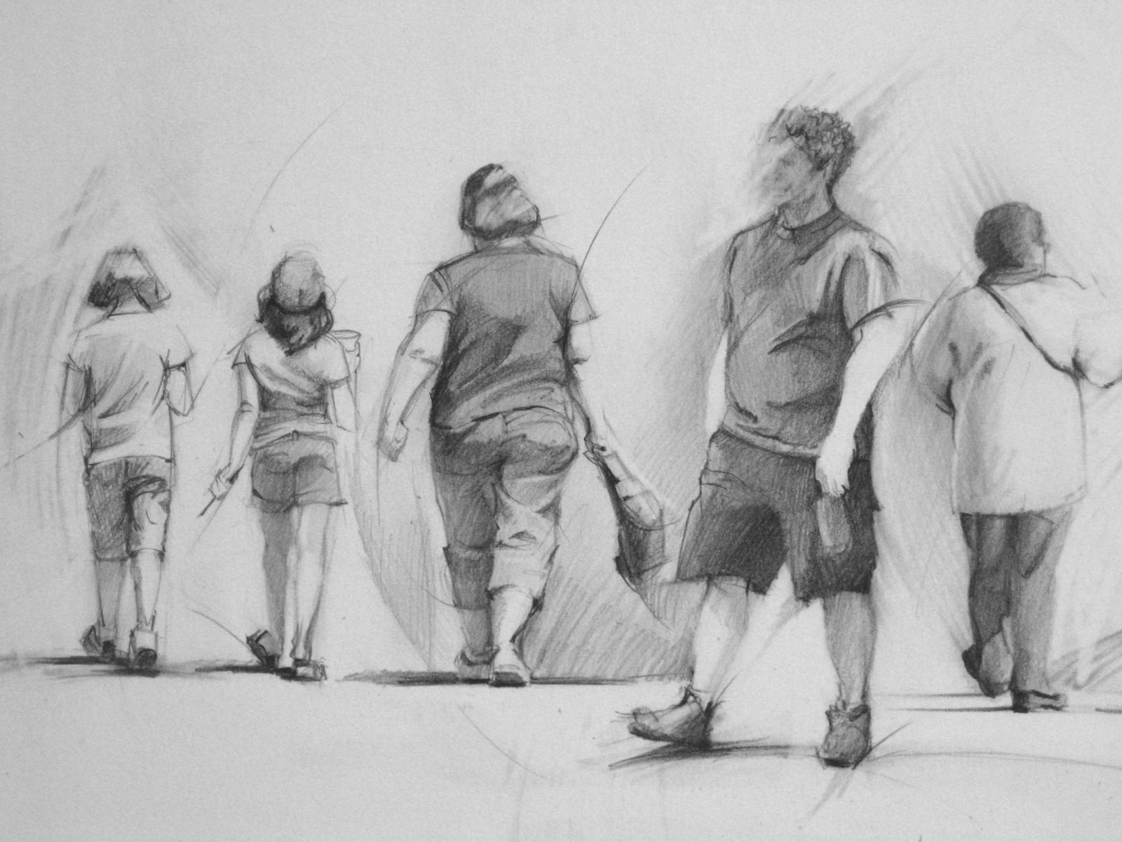 People Walking Away Drawing | www.imgkid.com - The Image ...