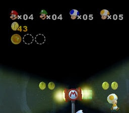 Life counter in Mario Wii