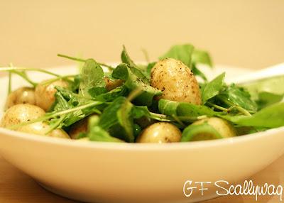 ... my little Aussie kitchen. : Simple Pea, Rocket, Mint & Potato Salad