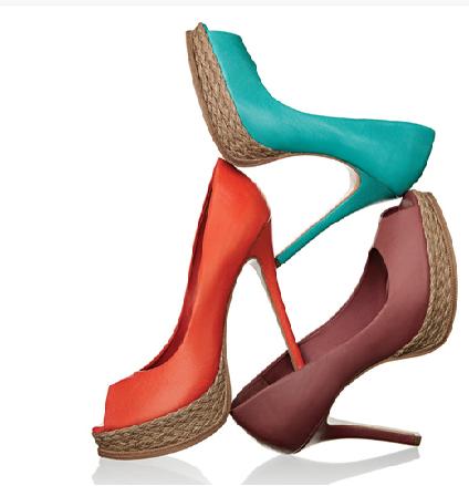 sapatos coloridos verão 2011