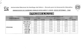 FECHAS DE EXAMANES REG  Y LIBRES