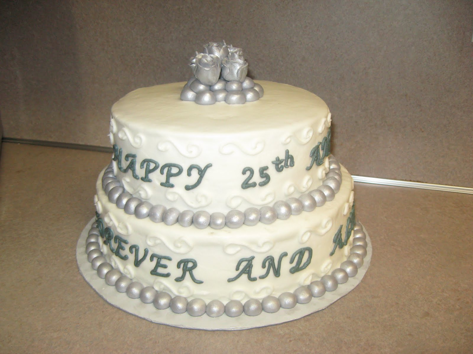 Delectable Sweets by the Smiths: 25th Anniversary Cake