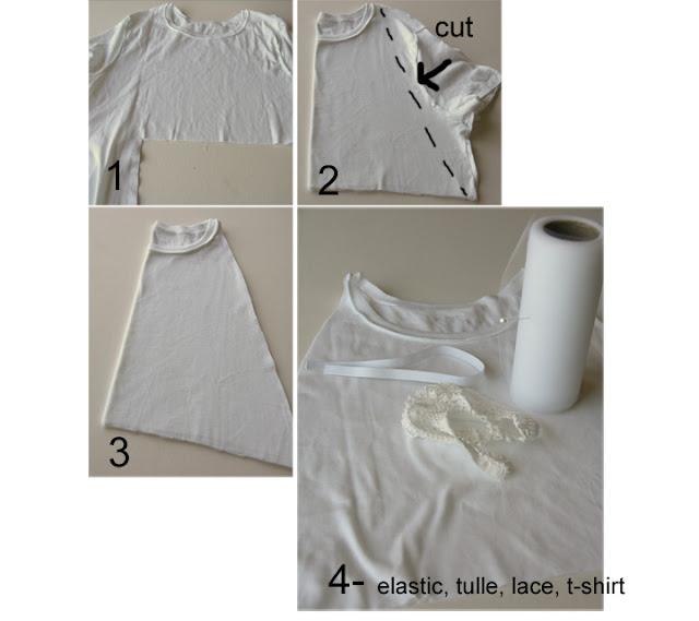Переделываем футболку.  Из мужской рубашки в детский сарафан. источник.