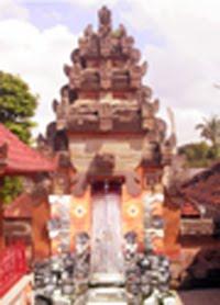 Pemedal agung Pura Penataran Pande di Banjar Tengah Blahbatuh