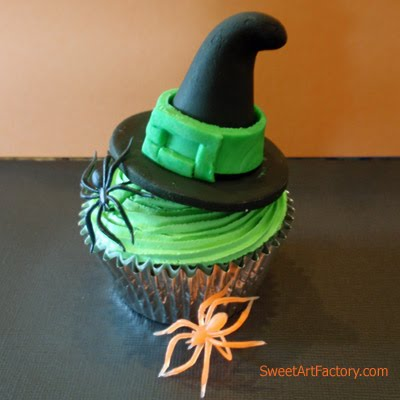 Halloween Cupcakes Witches Hats Halloween Witch Hat Cupcakes