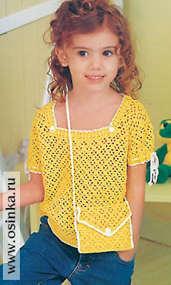 Вязание детские летние кофточки