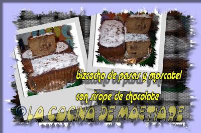 bizcocho - Bizcocho con pasas y moscatel al sirope de chocolate Collage7