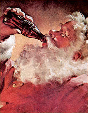 Vintage Cocoa Cola Christmas Advert