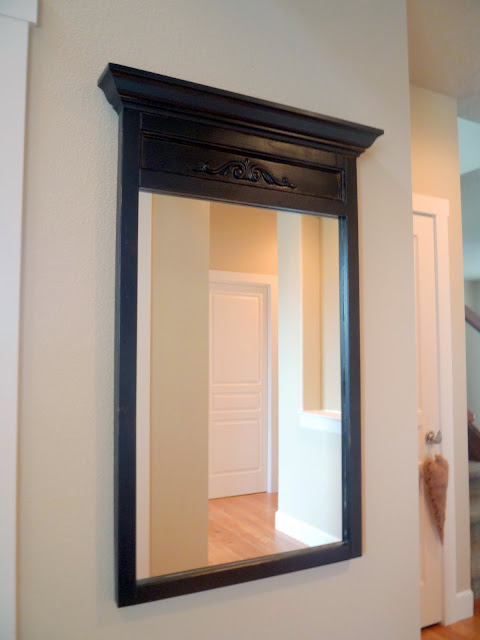 Before and After... The Ten Dollar Mirror by Crafty Sisters