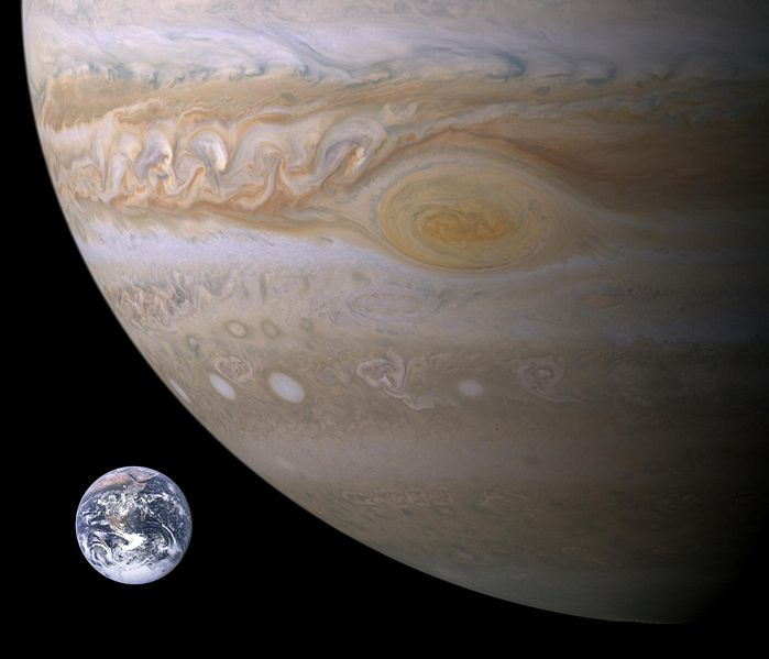 pics of jupiter planet. giant gas planet over one