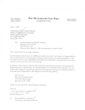 Letter from Jennifer Hungerford, former Beaverton atty referencing BSD money manager Dan Thomas