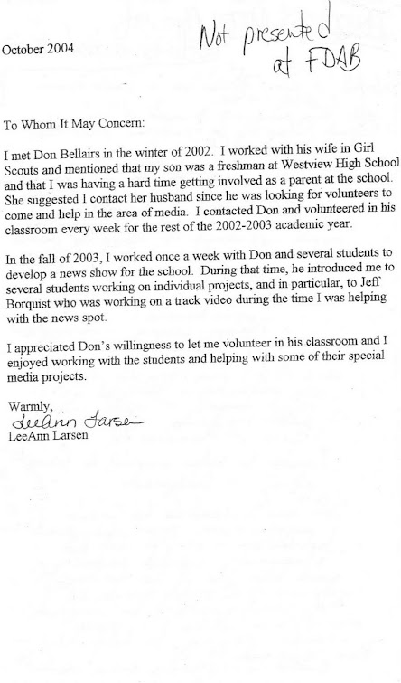 Documentation of current BSD school board member Leeann Larsen, who volunteered in media classes