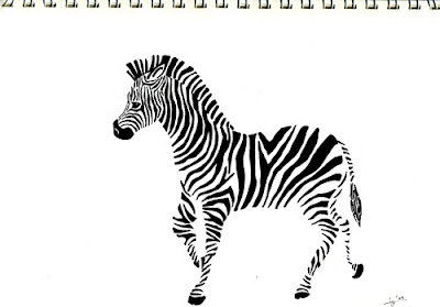 zebra outline drawing - photo #19