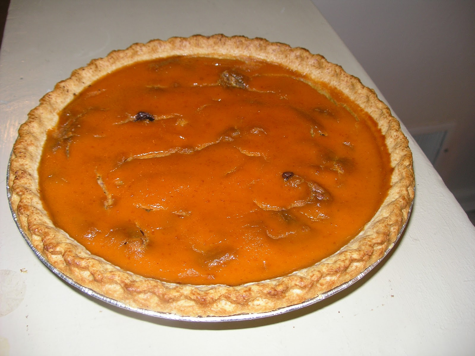 My Catholic Kitchen » Pumpkin Dark Chocolate Pecan Pie
