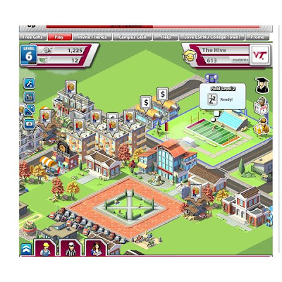 ESPNU College Town - A new facebook game