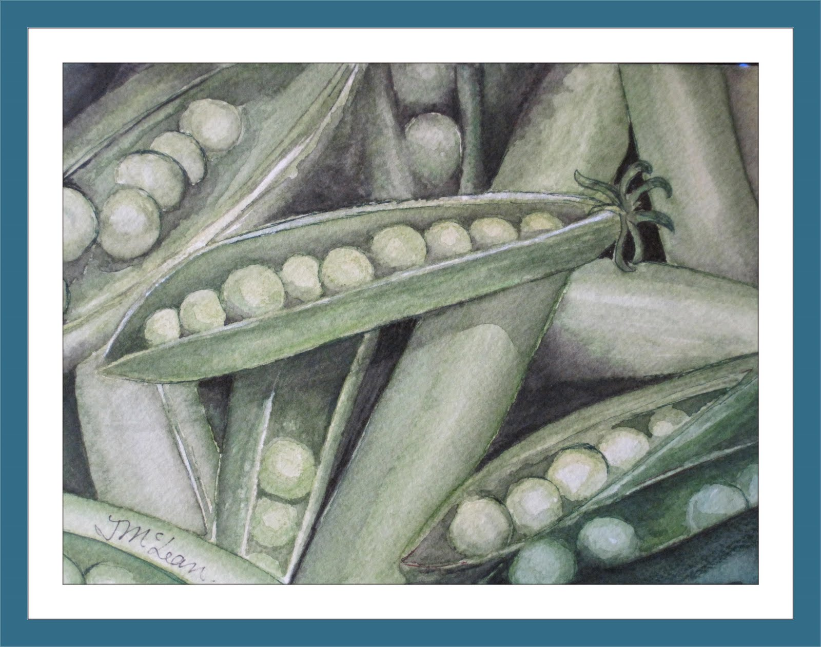 Peas Please Watercolor