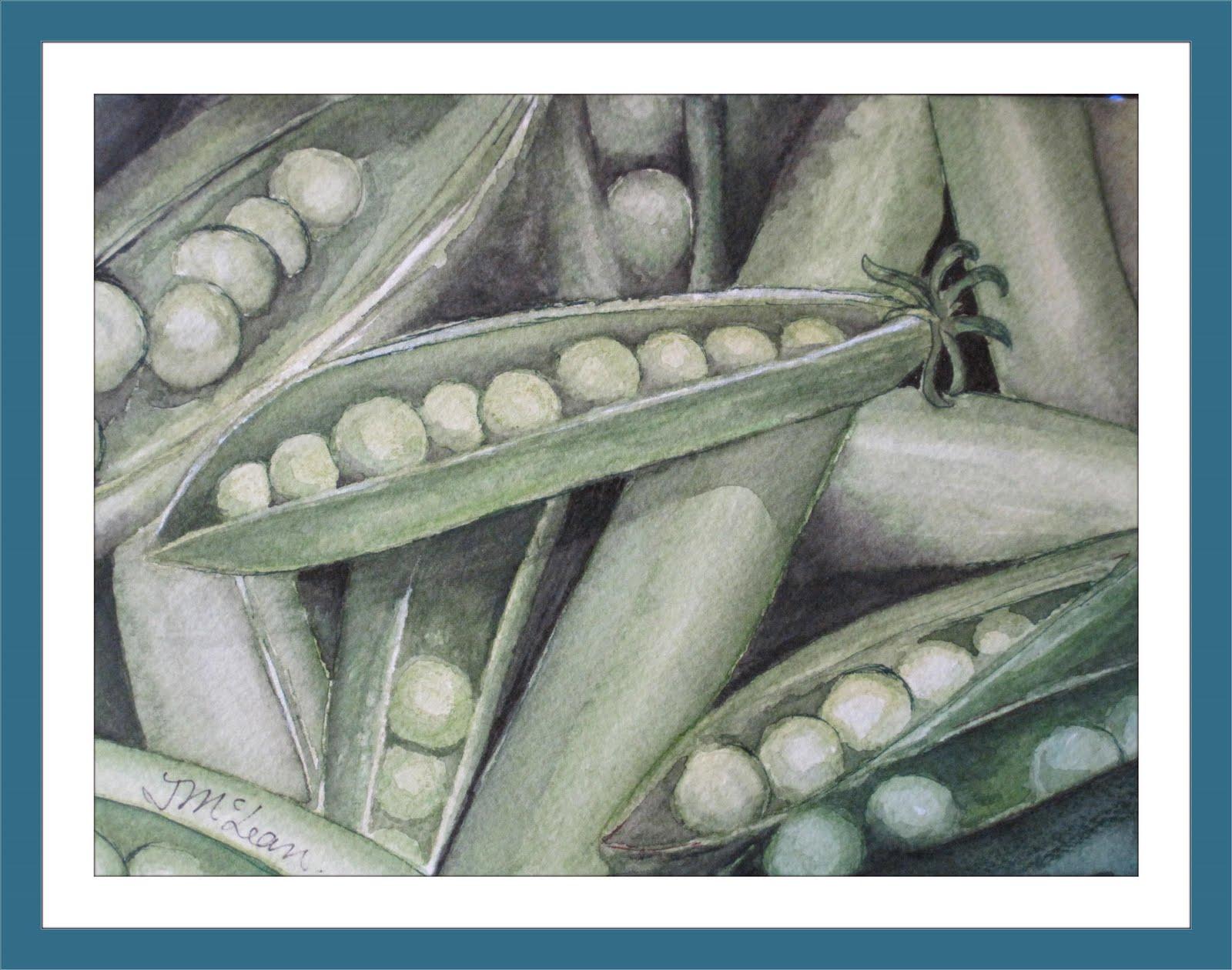 Peas Please Watercolor