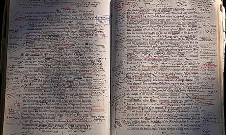 The editors' copy of Finnegans Wake. Photograph: Nick O'Neil