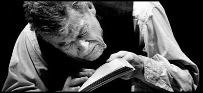 John Hurt in 'Krapp's Last Tape'