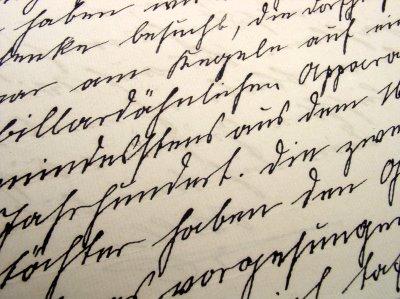 Handwritten typescript