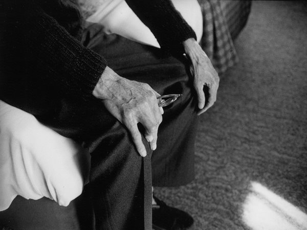 Samuel Beckett's hands. Photograph by John Minihan.