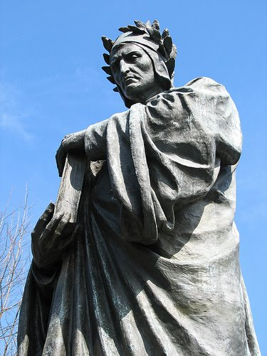 Dante Alighieri Statue Erected in 1922. Sculptor: Ettore Ximenes. Photograph by southbound_07 at Flickr.com