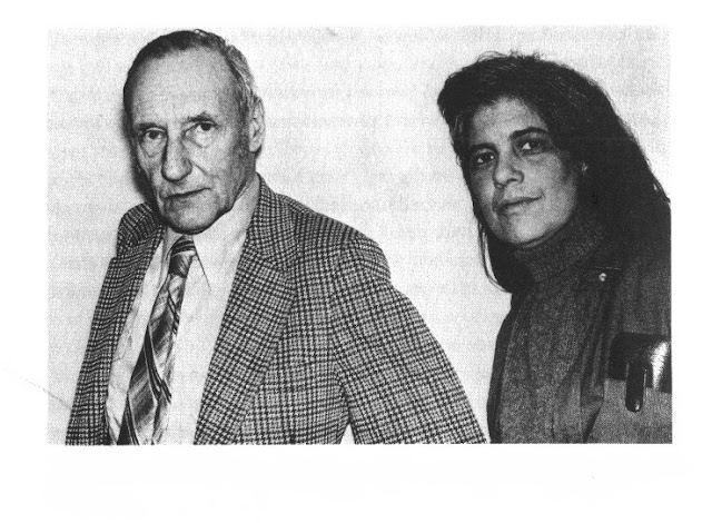 William Burroughs and Susan Sontag after dinner at Victor BOCKRIS' apartment. Photo Gerard Malanga