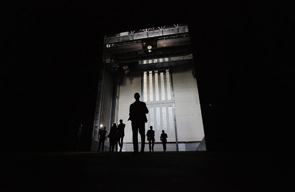 Miroslaw Balka, 'How It Is' in Tate Modern's Turbine Hall. Photograph: Peter Macdiarmid/Getty