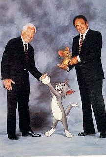 Hanna y Barbera con Tom y Jerry