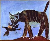 Gato devorando un pájaro, 1938