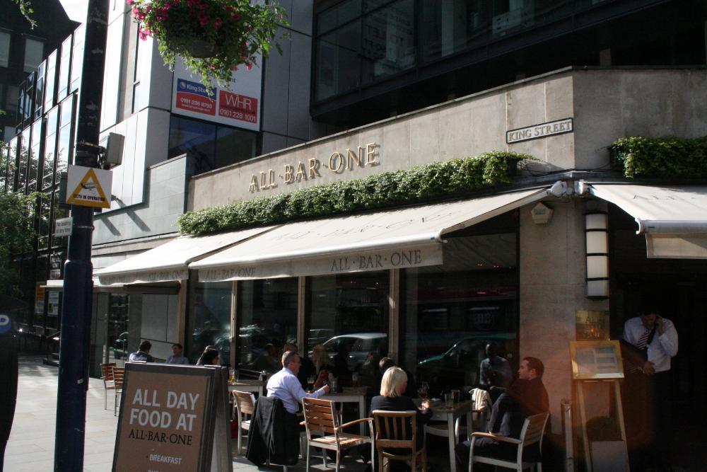pubs of manchester 104 all bar one king street. Black Bedroom Furniture Sets. Home Design Ideas