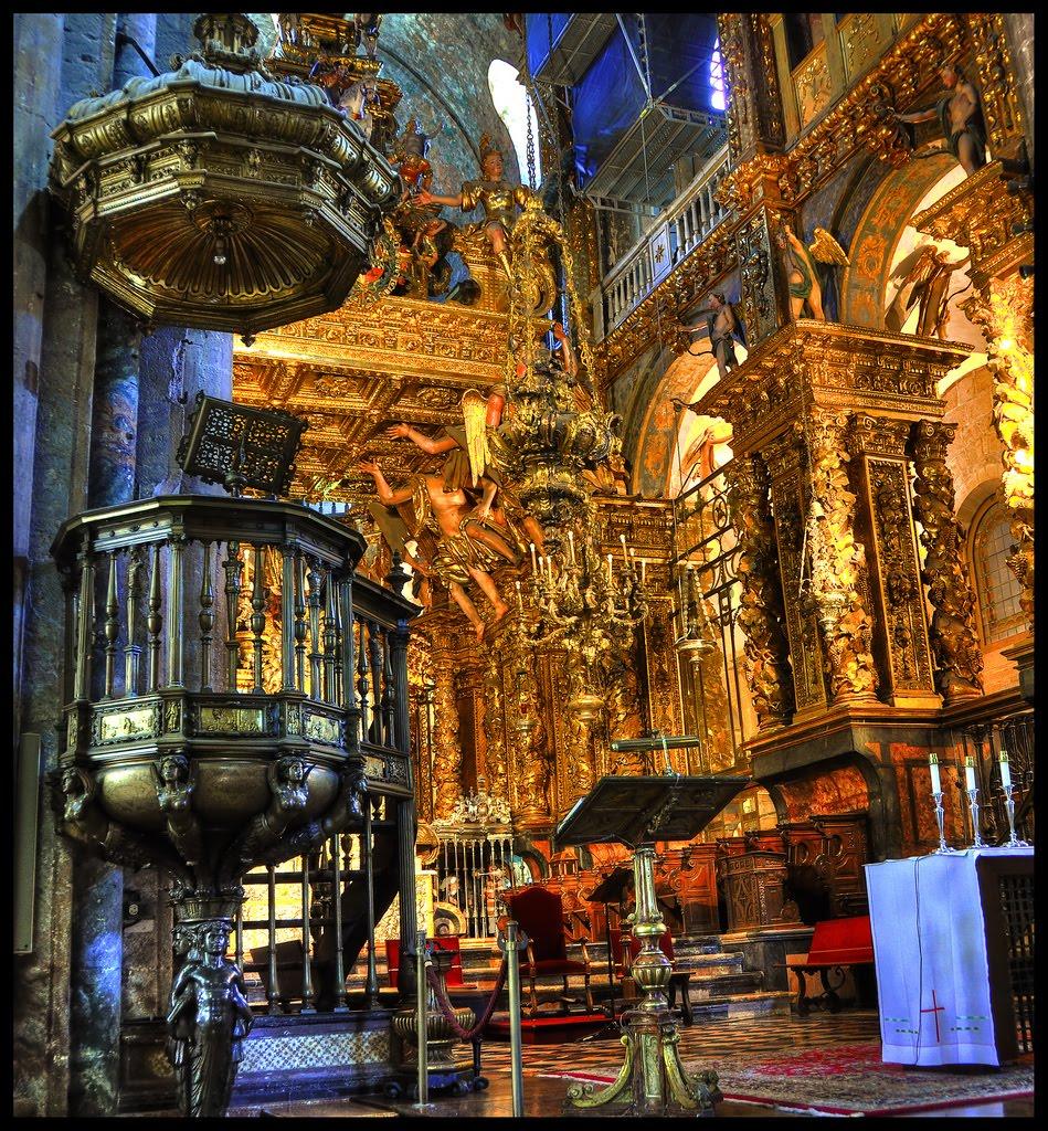 Santiago de compostela cathedral in spain - Interior santiago de compostela ...
