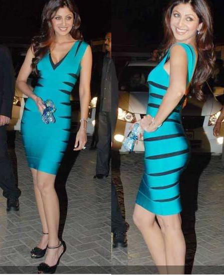shilpa shetty ipl launch dinner herve leger dress