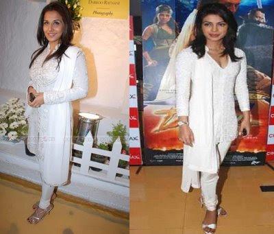 Vidya Balan Priyanka Chopra Drona Daboo Ratnani calendar launch white suit