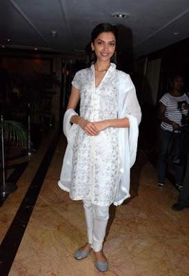 Deepika Padukone Chandni Chowk to China promo white suit