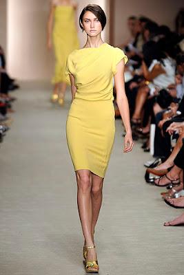 Freida Pinto yellow dress Bafta tea party Derek Lam Spring 09 Ready to Wear