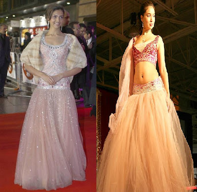 Deepika Padukone Tarun Tahiliani Chandni Chowk to China London premiere Leciester square Kim Sharma Masala Fashion Show Toronto