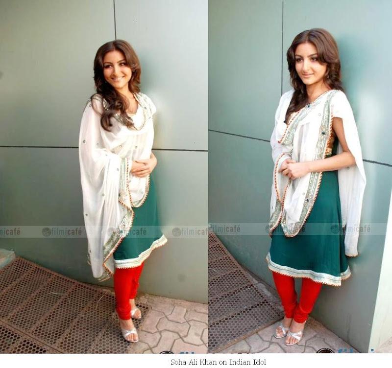 Soha Ali Khan suit churidaar Indian Idol
