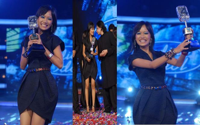 Indian Idol 4 Sourabhee Debbarma Winner black dress